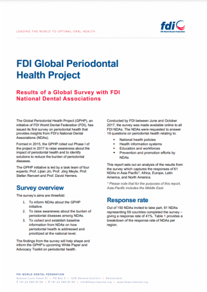 FDI Global Periodontal Health Project_survey