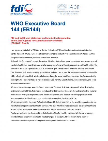 WHO Executive Board 144 (EB144)