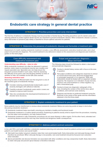Endodontic care strategy in general dental practice_chairside guides